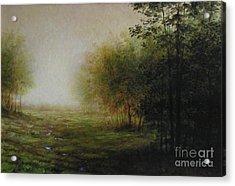 Green Acrylic Print by Larry Preston