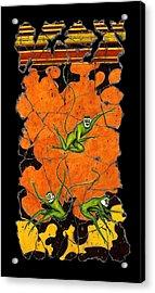 Green Monkeys No. 4 Acrylic Print by Steve Bogdanoff