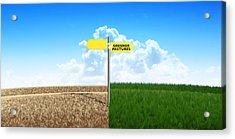 Green Pastures Sign Acrylic Print by Allan Swart