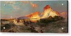 Green River Cliffs Wyoming Acrylic Print by Thomas Moran