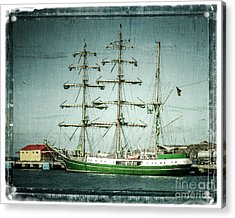Green Sail Acrylic Print by Perry Webster