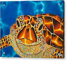 Green Sea Turtle Acrylic Print by Daniel Jean-Baptiste