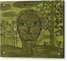 Green World Acrylic Print by Sean Mitchell