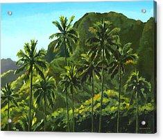 Greens Of Kahana Acrylic Print by Douglas Simonson