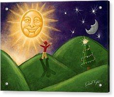 Greeting The New Sun Acrylic Print by David Kyte