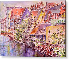 Greetings From Nuremberg Acrylic Print by Alfred Motzer
