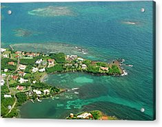 Grenada, Aerial View Of City Of St Acrylic Print by Anthony Asael