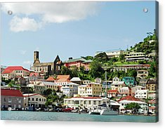 Grenada, St George, Carenage, View Acrylic Print by Anthony Asael