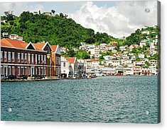 Grenada, St George, View Over Carenage Acrylic Print by Anthony Asael