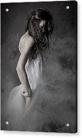 Grey Acrylic Print by Olga Mest