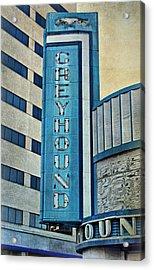 Greyhound Sign Acrylic Print by Sandy Keeton