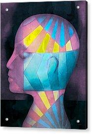 Grid Head Acrylic Print by Jeff  Gettis