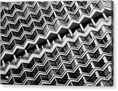 Grid Lines Acrylic Print by Louis Dallara