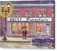 Griff Valentines' Birthday Acrylic Print by Rita Brown