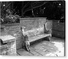 Griffin Bench Acrylic Print by Katie Beougher