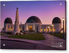 Griffith Observatory Acrylic Print by Eddie Yerkish