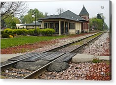 Grinnell Iowa - Train Depot Acrylic Print by Gregory Dyer