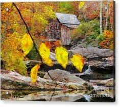 Grist Mill Acrylic Print by Elizabeth Coats