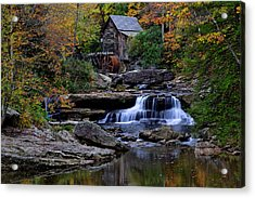 Grist Mill Falls Acrylic Print by Lone  Dakota Photography