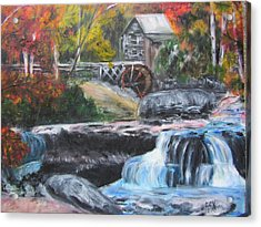 Grist Mill In West Virginia Acrylic Print by Lucille  Valentino
