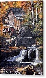 Grist Mill Acrylic Print by Wanda Kightley