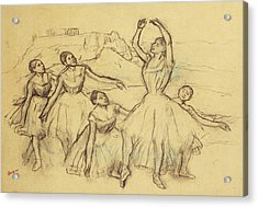 Group Of Dancers Acrylic Print by Edgar Degas