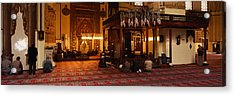Group Of People Praying In A Mosque Acrylic Print by Panoramic Images