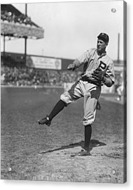 Grover Cleveland Alexander Pre Game Pitching Acrylic Print by Retro Images Archive
