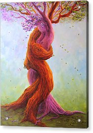 Growing Old Together Acrylic Print by Amanda Rogers