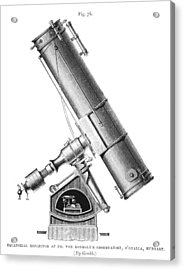 Grubb Equatorial Telescope, Hungary Acrylic Print by Science Photo Library
