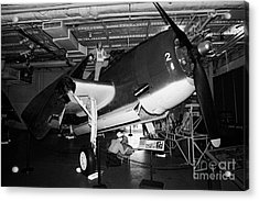 Grumman Eastern Aircraft Tbm 3e Tbm3e Avenger On The Hangar Deck At The Intrepid Air Space Museum Acrylic Print by Joe Fox