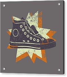 Grunge High Top Sneakers Acrylic Print by Flo Karp