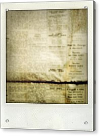 Grunge Newspaper Acrylic Print by Les Cunliffe