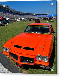 Gto At The Racetrack Acrylic Print by Mark Spearman