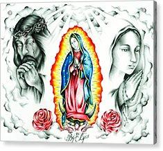 Guadalupe Acrylic Print by Eddie Egesi