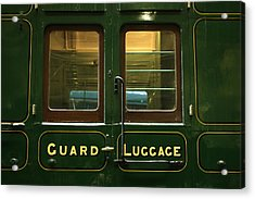 Guard And Luggage Car Acrylic Print by Paul Williams