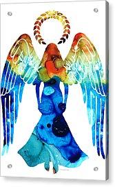 Guardian Angel - Spiritual Art Painting Acrylic Print by Sharon Cummings