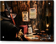 Guarding The Payroll Acrylic Print by Olivier Le Queinec