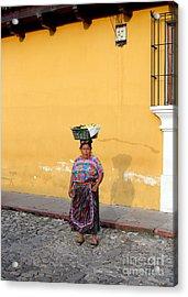 Guatemala Lady Acrylic Print by Carey Chen