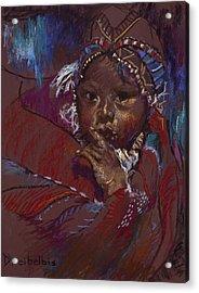 Guatemalan Child Acrylic Print by Ellen Dreibelbis