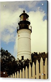 Guiding Light Of Key West Acrylic Print by Karen Wiles