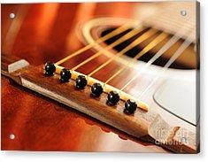 Guitar Bridge Acrylic Print by Elena Elisseeva
