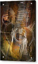 Guitar Works Acrylic Print by Randall Nyhof