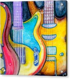 Guitars Acrylic Print by Debi Starr