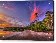Gulf Breezes Acrylic Print by Marvin Spates