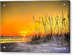 Gulf Sunset Acrylic Print by Marvin Spates