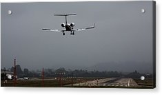 Gulfstream Approach Acrylic Print by John Daly