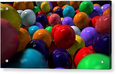 Gumballs Up Close And Personal Acrylic Print by Allan Swart