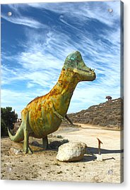 Gumby-saurus Acrylic Print by Gregory Dyer