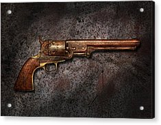 Gun - Colt Model 1851 - 36 Caliber Revolver Acrylic Print by Mike Savad